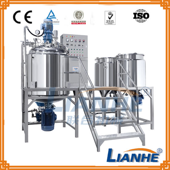 Vacuum Emulsifying Homogenizer Mixing Tank for Cosmetic Cream/Ointment
