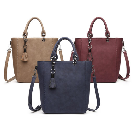 2018 Spring/Summer Fashionable Tote Handbags in Two Tone Effect Without Any MOQ and Stocks