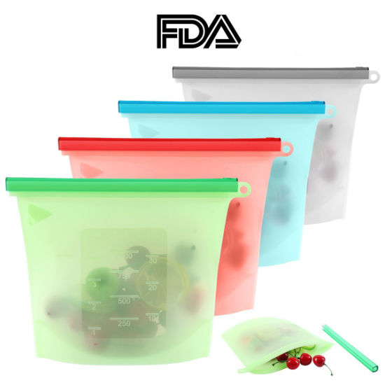 Wholesale BPA Free Reusable Food Preservation Saver Container Silicone Food Bag for Food Storage