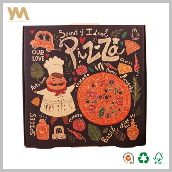 Cheap Wholesale Custom Printed Kraft Pizza Box for Restuarant pictures & photos