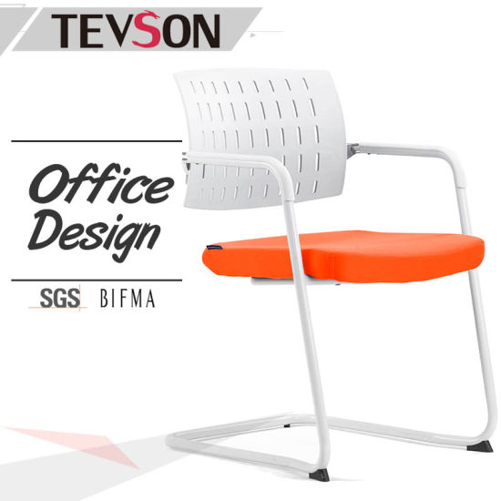 china comfortable modern plastic back reception chair for office