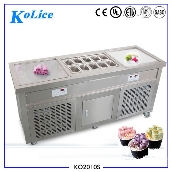 Double Square Pans Fry Ice Cream Roll Machine Icecream Machine pictures & photos