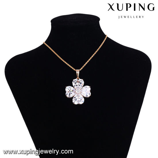 32897 Fashion Elegant Eye Tear Crystal Jewelry Necklace Pendant in Gold-Plated pictures & photos