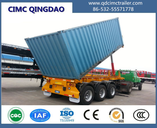Cimc 20FT 40FT Container Tipper Trailer / Container Dump Skeleton Semi Trailer pictures & photos