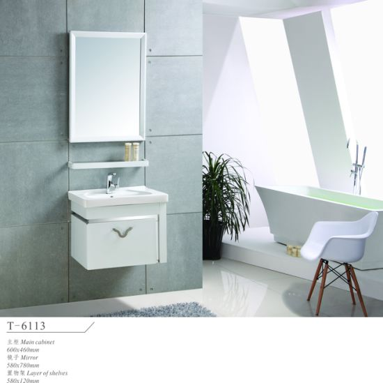 Hot Simple 201 Stainless Steel Bathroom Modern Hotel Furniture Cabinet