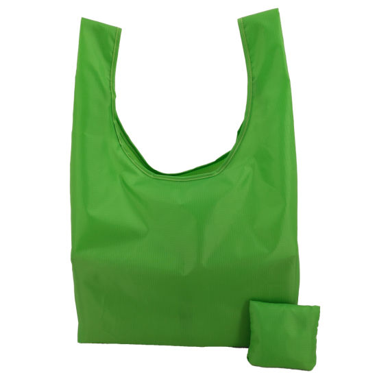 Personalized Waterproof Ripstop Nylon Polyester Folding Shopping Bags for Travel
