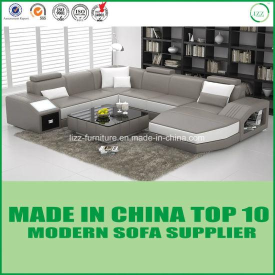 China Nordic Wooden Furniture Italian Leather Sofa