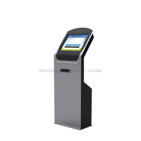 E-Fluence Touch Screen LCD LED Display Ticket Vending Machine Kiosk with Printer and NFC pictures & photos