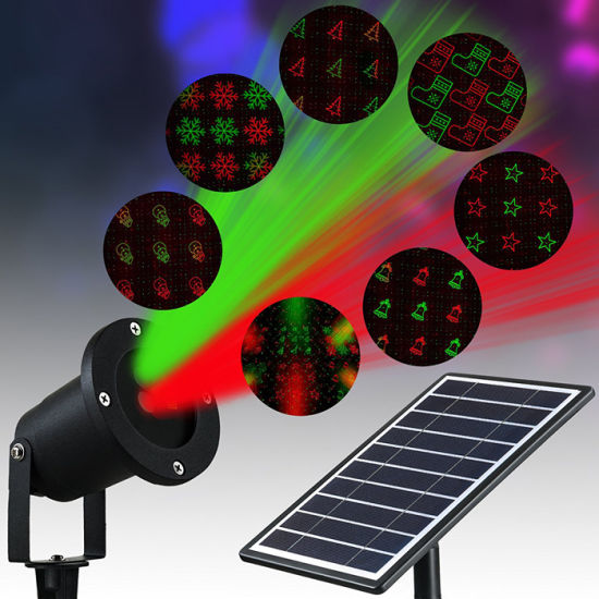 solar led christmas light outdoor garden waterproof laser projector light