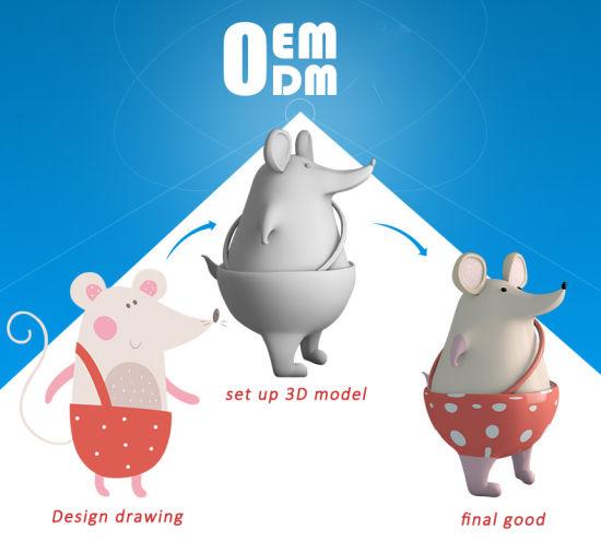 OEM ODM Resin Cartoon Mice Mascot Statue Figurine Handicraft Customization
