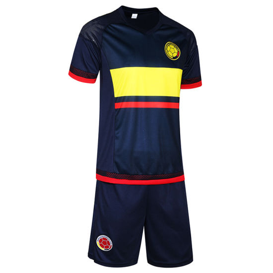 e77ec2fb4 15-16 New Jersey Columbia 10 J Lo Soccer Clothes Suit Uniforms Training  Suits Printing