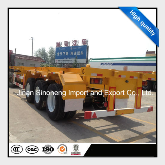 Flatbed Platform Container Semi Trailer pictures & photos