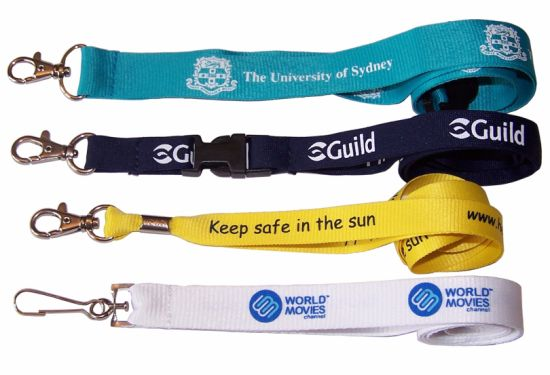 ID Card Lanyard with Silk Printing Logo pictures & photos