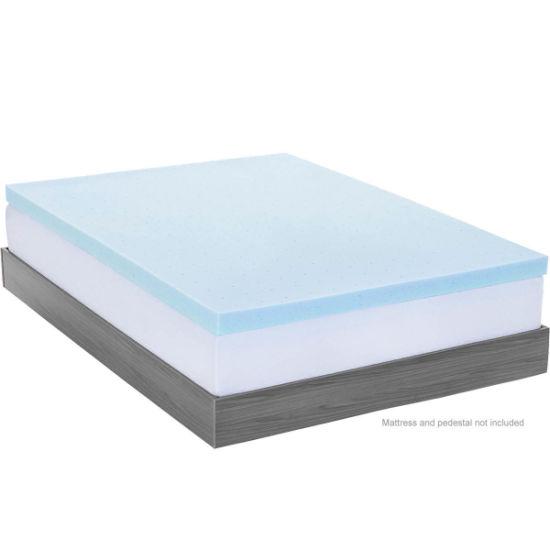 China Gel Infused Visco Elastic Memory Foam Mattress Topper Bed