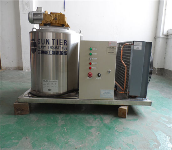 300kg/Day Ice Flake Machine for Fishery Price Freon Refrigerator pictures & photos