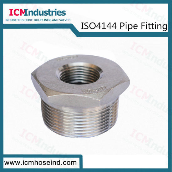 Stainless Steel Hex Bushing Threaded Fittings/ISO 4144 Pipe Fitting