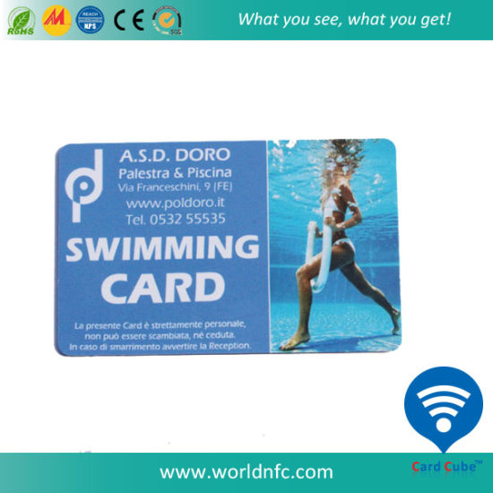 2016 Newest Promotional Cr80 PVC Membership Card for Swimming, Entertainment pictures & photos