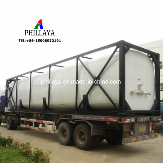 Heating Asphalt Liquid Transport ISO Frame Taner Bitumen Tank Container pictures & photos