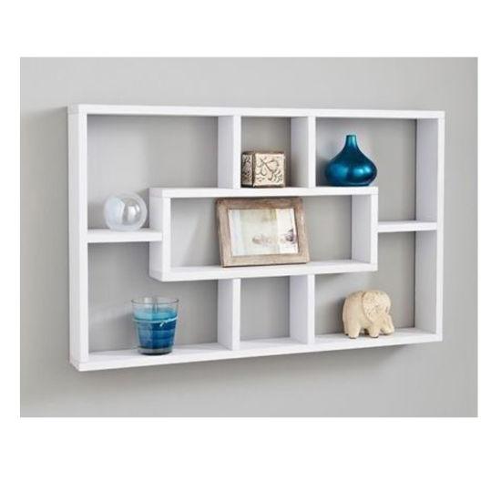 7 Storage Wall Floating Shelf Mounted Display Bookshelf