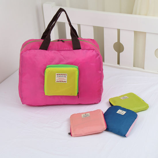 OEM Fashion Pink Polyester Folding Bag pictures & photos
