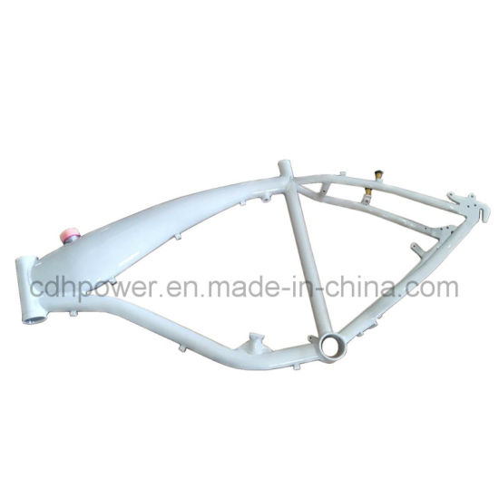 China Reinforced White Color Motorized Bicycle Gas Frame 2.4L in ...