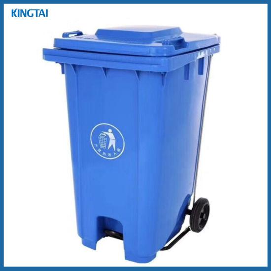 100 Liter, 120 Liter, 240 Liter Middle Foot-Pedal Plastic Garbage Bin Outdoor Waste Bin