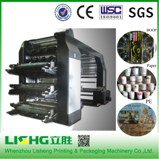 Paper Bag, Non Woven Bag, Plastic Bag Flexo Printing Machine in High Speed Printing, Lisheng Machine pictures & photos