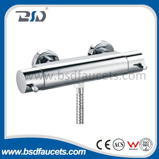 China Chrome Brass Temperature Control Thermostatic Spool Shower