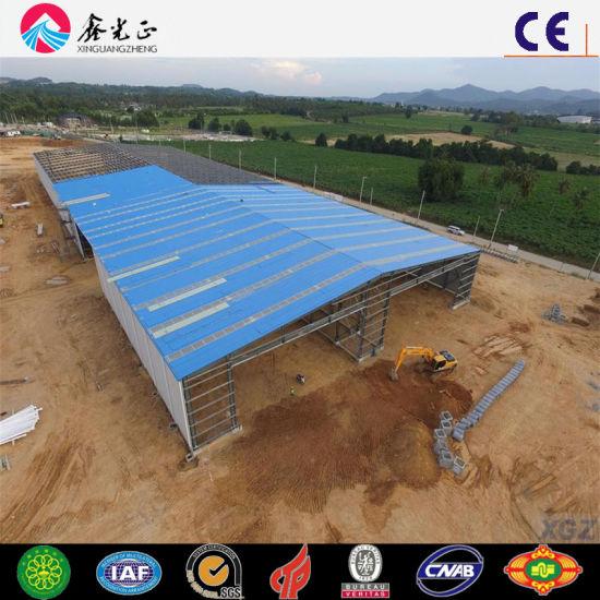 Prefabricated Steel Building Material Industrial Warehouse Large Span Workshop (Q345B/Q235B)