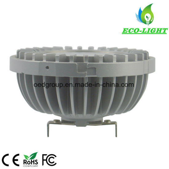 AR111 Dimmable Lamp 110V 120V LED Lamp AR111 G53 220V 230V Aluminium AR111 Downlights pictures & photos