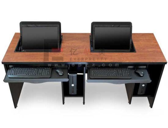Wood School Student Smart Desk Table For Computer Room