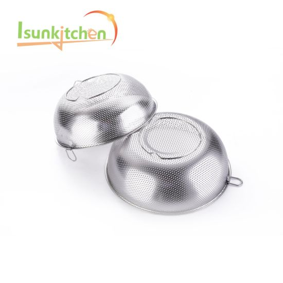 34.5 Hot Sale Stainless Steel Multifunction Rice Sifter/Colanders/Fruit Basket/Strainer