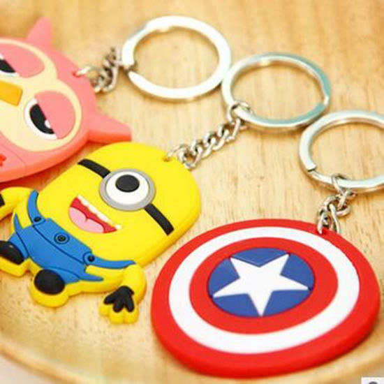 2016 Hot Selling Custom Silicon Plastic Keychain From Supplier pictures & photos