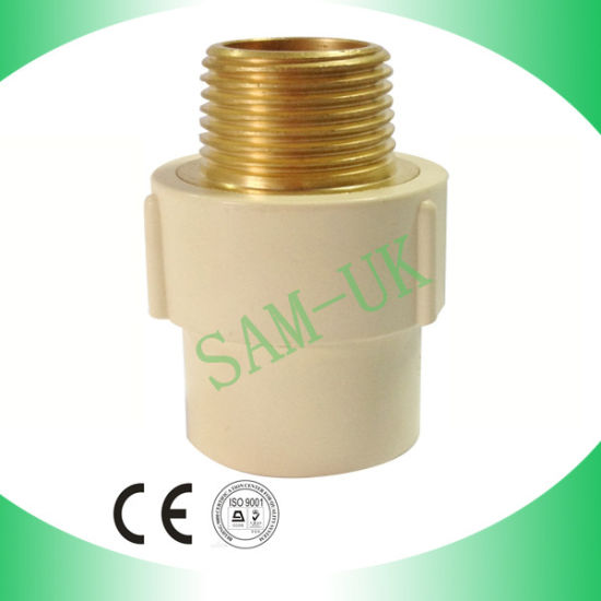 CPVC Fittings ASTM D2846 Brass Threaded Male Adapter pictures & photos