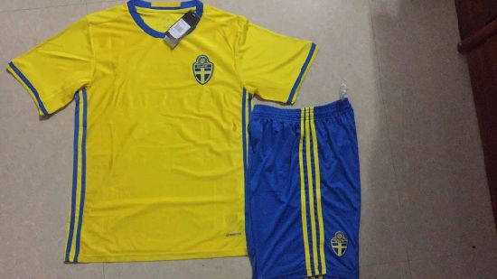 China 2016 Sweden Football Kit China 2016 Soccer Jersey Soccer T