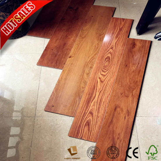 China 8mm 12mm Laminate Flooring Sheets With Medium Embossed Surface