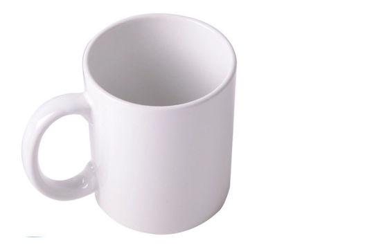 Plain White Ceramic Mug With Custom Logo