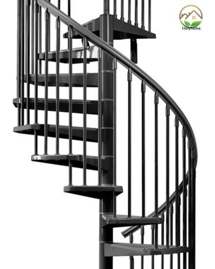 China Modern Indoor Prefabricated Glass Spiral Stairs Price China