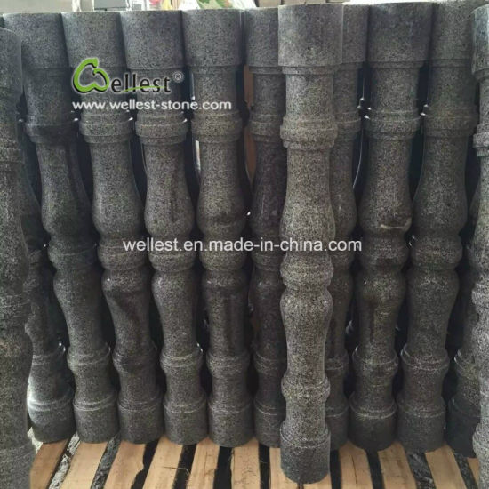 China Dark Grey Polished Granite Baluster for Stairs/Staircase/Balcony/Patio/Entrance/Steps