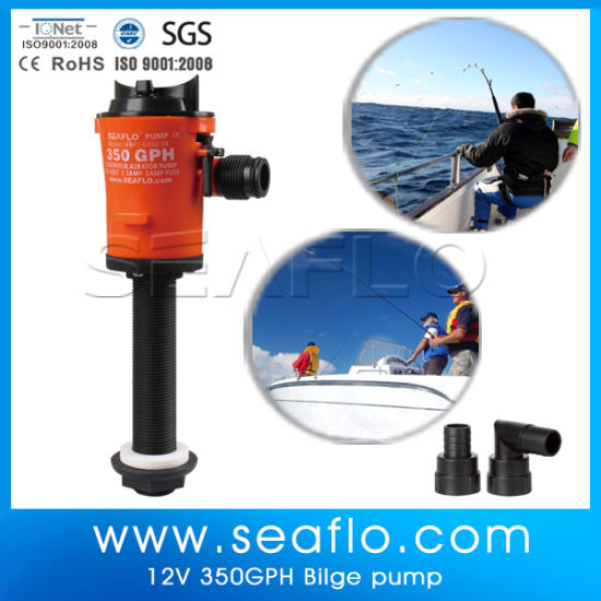 China Seaflo 12V 800gph Deep Water Baitwell Bore Well Pump