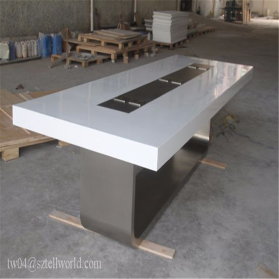 China High Tech Quality Stone Top Hotel Meeting Room Conference - Stone conference table