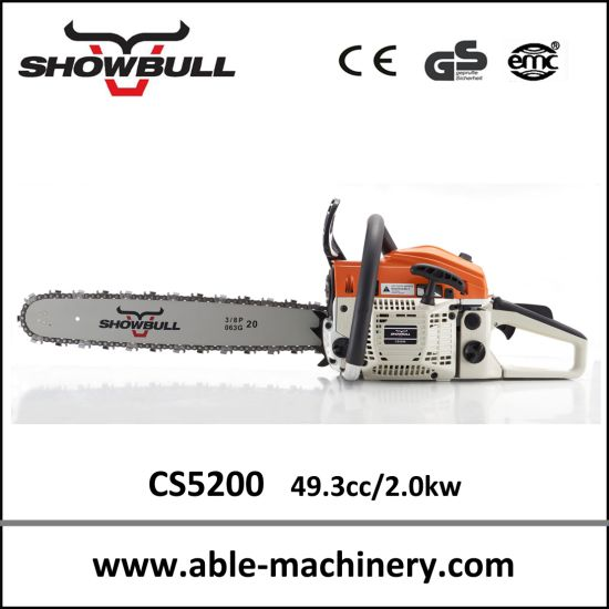 Factory Petrol Wood Saw Cutting Machine 5200, Gasoline Chainsaw pictures & photos