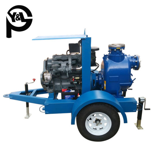 6 Inch Diesel Engine Self-Priming Centrifugal Sewage Water Treatment Pump