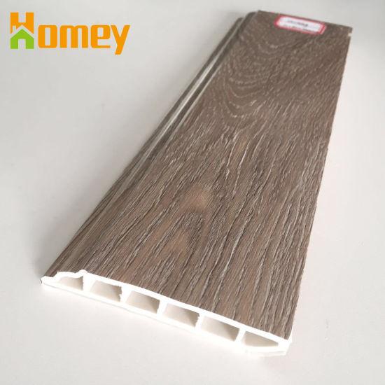 Polystyrene Plastic PVC Vinyl Floor Accessories Waterproof Skirting Board