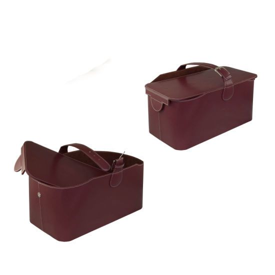 Luxury Novelty Simply Design PU Leather Wine Basket (3644R1) pictures & photos