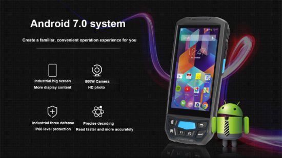 2018 New Mobile Honeywell Wireless Android 2D Bluetooth Barcode Scanner  Pdf417 PDA Qr Code Scanner GPS Handheld Terminal
