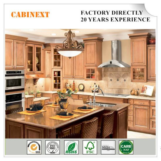 China Factory Direct Sale Antique Solid Wood Modular Kitchen Cabinet China American Kitchen Cabinet Modular Cabinets
