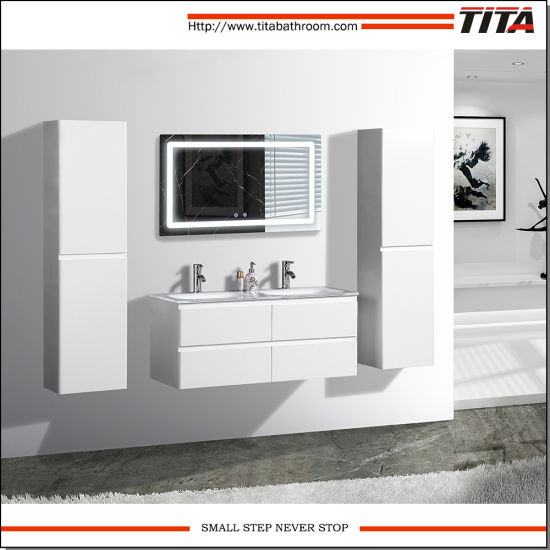 New Style Lacquer LED Bathroom Furniture Set T9319
