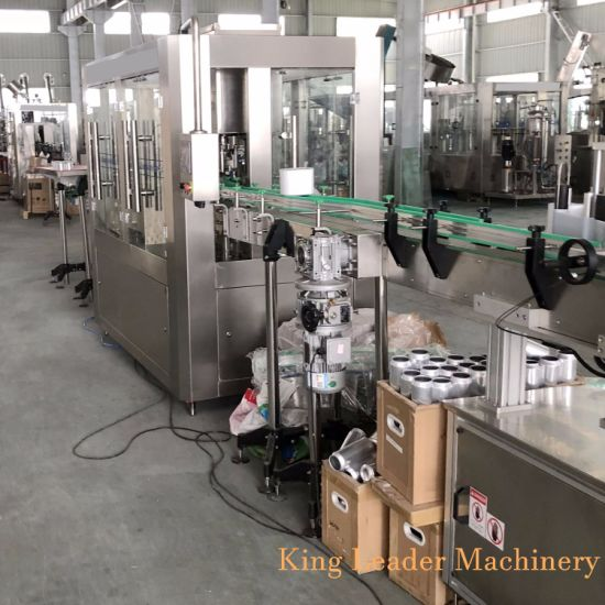 Pop Cans Carbonated Soft Drink Filling Machine
