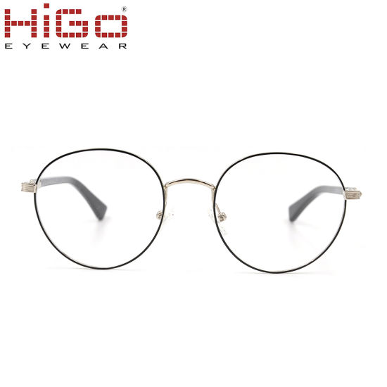 Newest Double Colored Border Glasses with Circluar Lens Eyewear